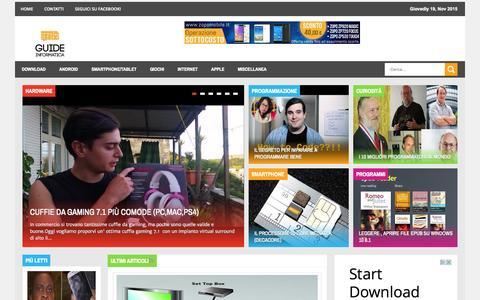 Screenshot of Home Page guide-informatica.com - Guide informatica - captured Nov. 19, 2015
