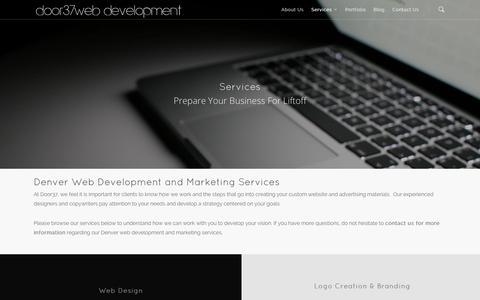 Screenshot of Services Page door37.com - Services | Denver Web Design | Website Development | Door37 - captured Sept. 30, 2014