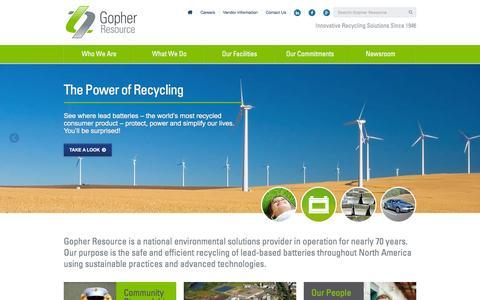 Screenshot of Home Page Menu Page gopherresource.com - Gopher Home - captured Dec. 12, 2015