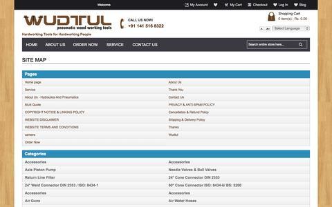 Screenshot of Site Map Page wudtul.com captured Oct. 7, 2014