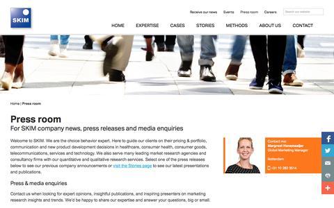 Screenshot of Press Page skimgroup.com - SKIM   Press Room - captured Oct. 3, 2014