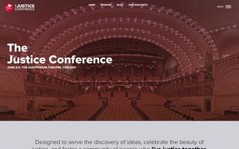Screenshot of Press Page thejusticeconference.com - The Justice Conference   Pre-Conference - captured Nov. 18, 2015