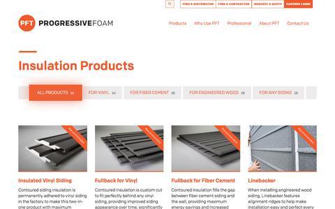 Screenshot of Products Page progressivefoam.com - Products Archive | Progressive Foam Technologies - captured Nov. 13, 2016
