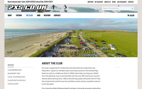 Screenshot of Signup Page 2xs.co.uk - WEST WITTERING WINDSURF CLUB - 2XS - captured Jan. 27, 2016