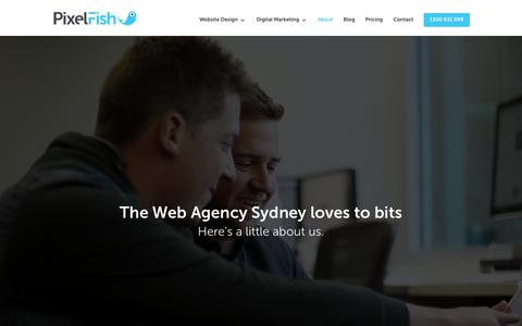 Screenshot of About Page pixelfish.com.au - Pixel Fish - Web Agency Sydney - captured July 19, 2018