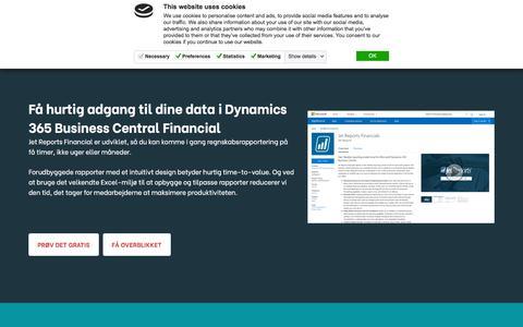 Screenshot of Trial Page insightsoftware.com - Jet Reports til Dynamics 365 Business Central Demo og Pris - D365BC - captured Oct. 9, 2019