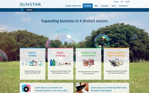Screenshot of Products Page sunstar.com - Products | Sunstar Global Website - captured Oct. 1, 2017
