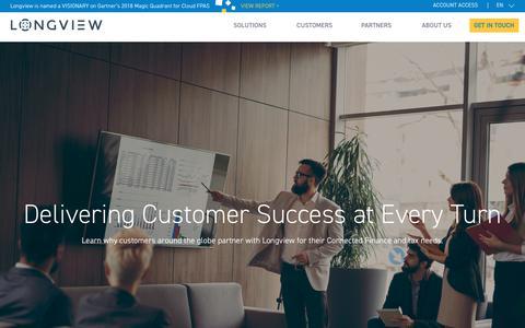 Screenshot of Case Studies Page longview.com - Customers | Longview - captured Sept. 19, 2018