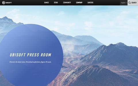 Screenshot of Press Page ubisoft.com - Ubisoft - Company / Press - captured Nov. 8, 2019