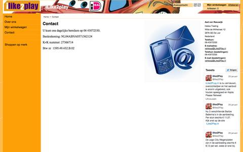 Screenshot of Contact Page ilike2play.nl - Contact - captured Sept. 30, 2014