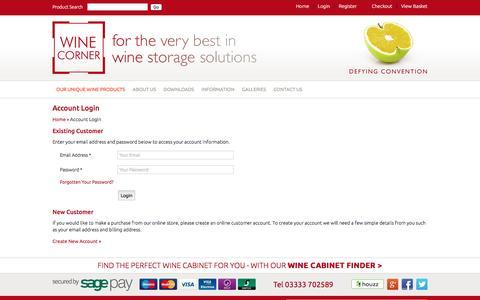Screenshot of Login Page winecorner.co.uk - Login Page - captured March 11, 2016