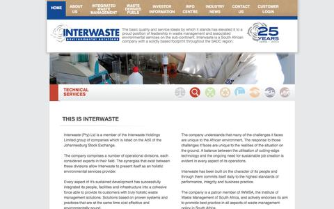 Screenshot of Privacy Page interwaste.co.za - Waste Management & Environment Services | Interwaste - captured Oct. 6, 2014