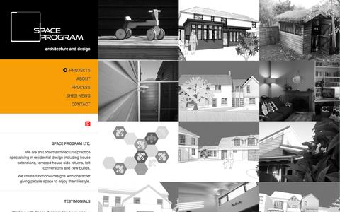 Screenshot of Home Page space-program.co.uk - Space Program Ltd. | Architecture & Design - captured Oct. 7, 2014