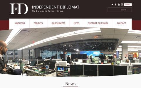 Screenshot of Press Page independentdiplomat.org - News | Independent Diplomat | The diplomatic advisory group - captured May 28, 2017