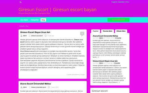Screenshot of Blog giresungazetem.com - Blog | Giresun Escort | Giresun escort bayan - captured Nov. 3, 2018