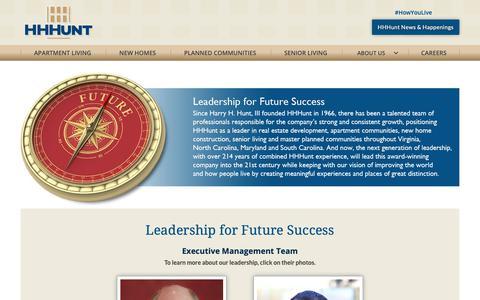 Screenshot of Team Page hhhunt.com - HHHunt Leadership For Future Success - captured Dec. 13, 2018