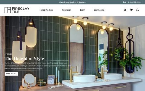 Screenshot of Home Page fireclaytile.com - Home Page | Fireclay Tile - captured Oct. 4, 2018