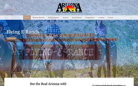 Screenshot of Home Page azdra.com - Guest Ranches | Dude Ranches | Arizona Dude Ranch Association - captured March 7, 2016