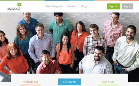 Screenshot of Team Page getacceptd.com - Acceptd  Our Team | Acceptd - captured Sept. 13, 2014