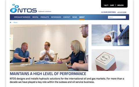 Screenshot of About Page ntos.no - About - NTOS - captured Oct. 26, 2014