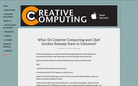 Screenshot of Blog creativecomputing.com - blog — Creative Computing - captured Oct. 3, 2014