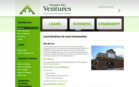 Screenshot of About Page thunderbayventures.com - Thunder Bay Ventures - - captured Oct. 9, 2014