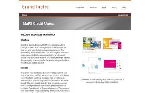 Screenshot of Maps & Directions Page brandincite.com - MaPS Credit Union - Brand Strategy | Brand Incite - captured Jan. 7, 2016