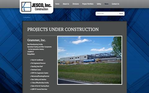 Screenshot of Press Page jescoinc.net - In the News | Jesco - captured Sept. 30, 2014