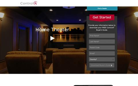 Screenshot of Landing Page control4.com - Home Theater | Control4 - captured Oct. 27, 2014