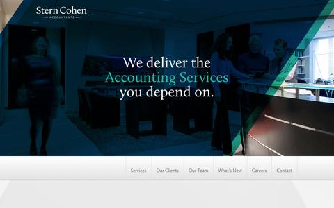 Screenshot of Home Page sterncohen.com - Stern Cohen | Accounting Services in Toronto & the GTA - captured Oct. 7, 2014