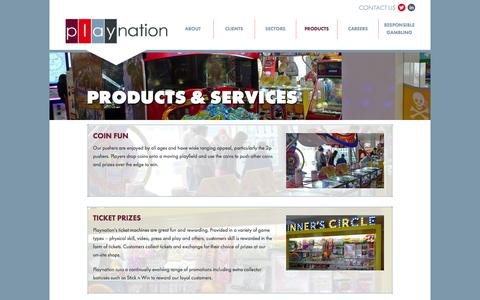 Screenshot of Products Page playnation.co.uk - Playnation | Playnation – Serious About Fun - captured Oct. 3, 2014