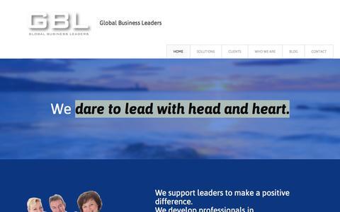Screenshot of Home Page global-business-leaders.com - Home - Global Business Leaders - captured July 22, 2015