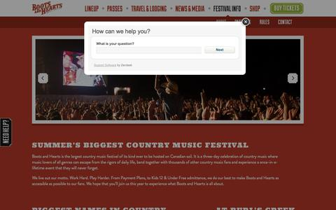 Screenshot of About Page bootsandhearts.com - About | Boots & Hearts - captured Oct. 30, 2014
