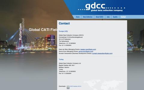 Screenshot of Contact Page gdcc.com - GDCC-Contact - captured Oct. 1, 2014