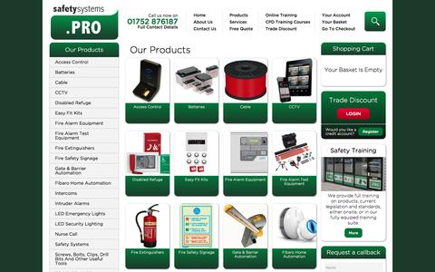 Screenshot of Products Page safetysystems.pro - Fire, Safety & Security Equipment | Pro Safety Systems | Pro Safety Systems - captured Oct. 10, 2016