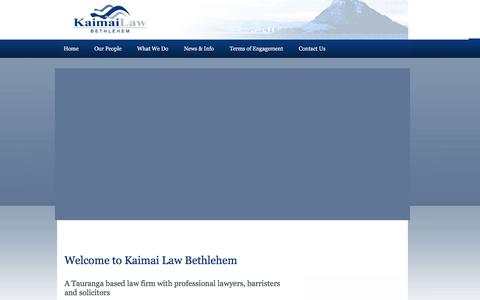 Screenshot of Home Page klb.co.nz - Tauranga Lawyers & Law Firms | Barristers & Solicitors in NZ - captured Feb. 12, 2016