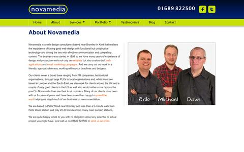 Screenshot of About Page novamedia.co.uk - Novamedia - About - captured Sept. 30, 2014