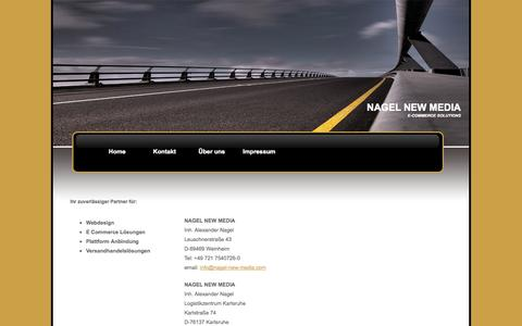 Screenshot of Home Page nagel-new-media.com - Nagel New Media - E-Commerce Solutions - captured Sept. 22, 2014