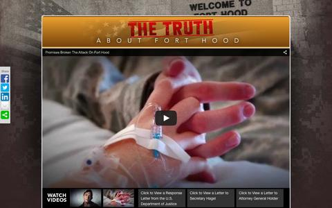 Screenshot of Home Page truthaboutforthood.com - Truth About Fort Hood - captured Oct. 9, 2015