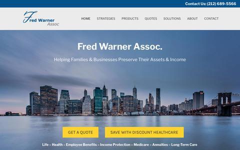 Screenshot of Home Page fredwarner.com - Fred Warner Assoc. - Independent Insurance Agency - captured Dec. 19, 2018