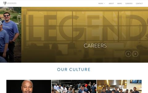 Screenshot of Jobs Page legends.net - Life at Legends - captured July 18, 2018