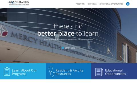 Screenshot of Home Page grmep.org - Grand Rapids Medical Education Partners | GRMEP - captured Jan. 31, 2016