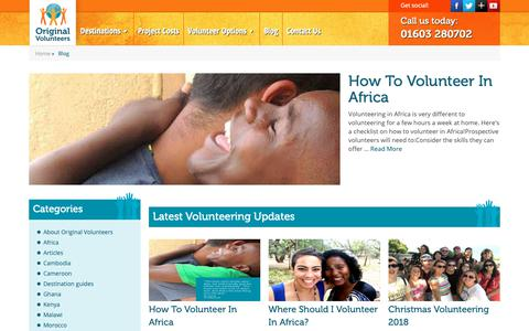 Screenshot of Blog originalvolunteers.co.uk - Blog - Original Volunteers - captured Oct. 19, 2018