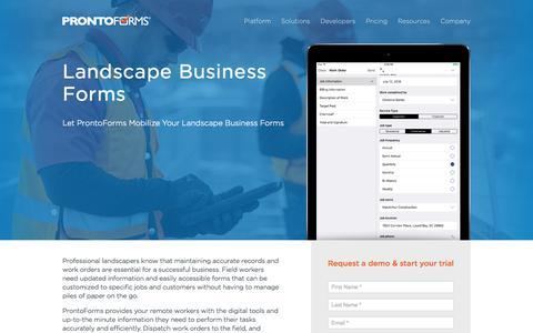 Landscape Business Forms | ProntoForms