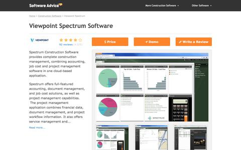 Viewpoint Spectrum Software - 2018 Reviews, Pricing & Demo