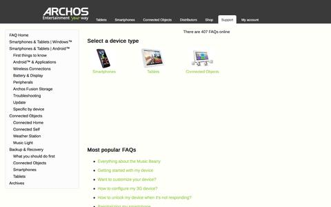 Screenshot of FAQ Page archos.com - ARCHOS FAQ -  powered by phpMyFAQ 2.8.23 - captured Dec. 26, 2015
