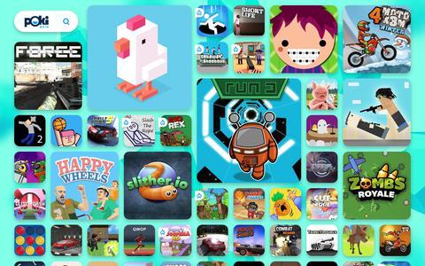 Screenshot of Home Page poki.pl - DARMOWE GRY ONLINE - Graj w najlepsze darmowe gry na Poki.pl! - captured Sept. 23, 2018