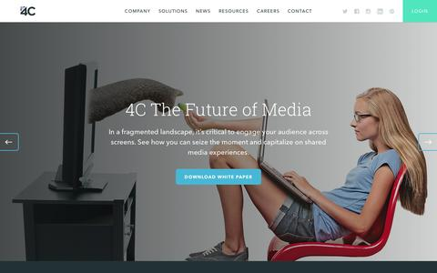 Screenshot of Home Page 4cinsights.com - 4C | The Future of Media - captured Feb. 21, 2016