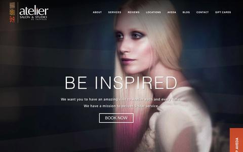 Screenshot of Home Page ateliersalon.com - Home | Atelier Salon & Studio - captured Sept. 13, 2015
