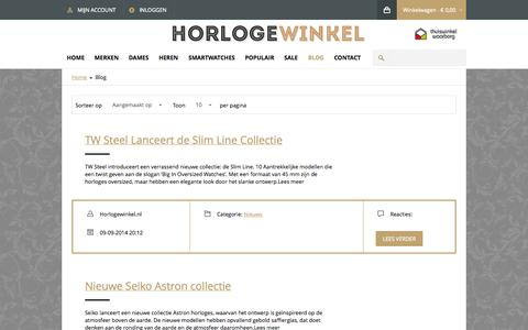 Screenshot of Blog horlogewinkel.nl - Blog - captured Nov. 2, 2014